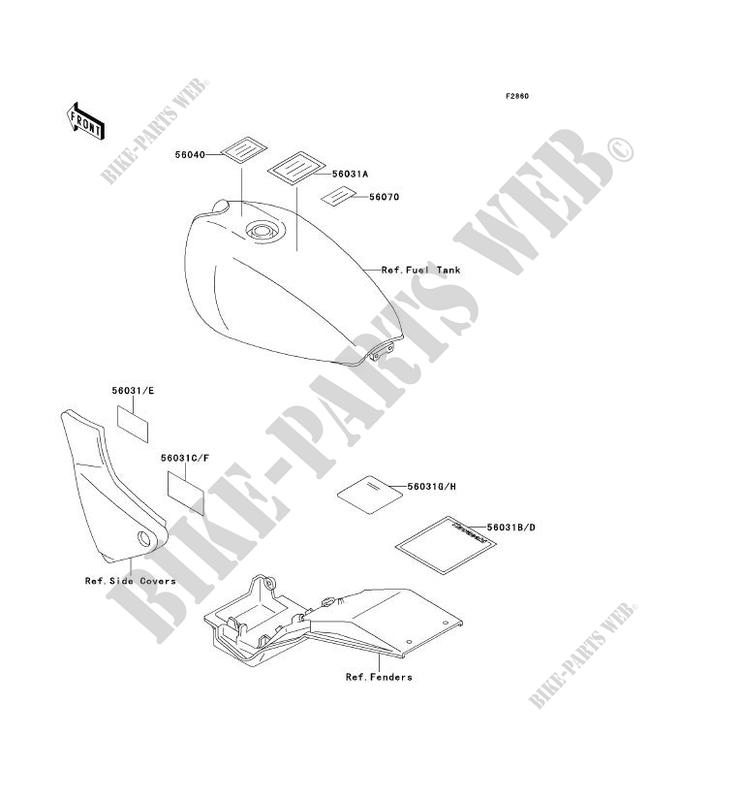 Kawasaki MOTOS 550 1991 ZEPHYR  ZR550-B2 ZR550-B2 LABELS
