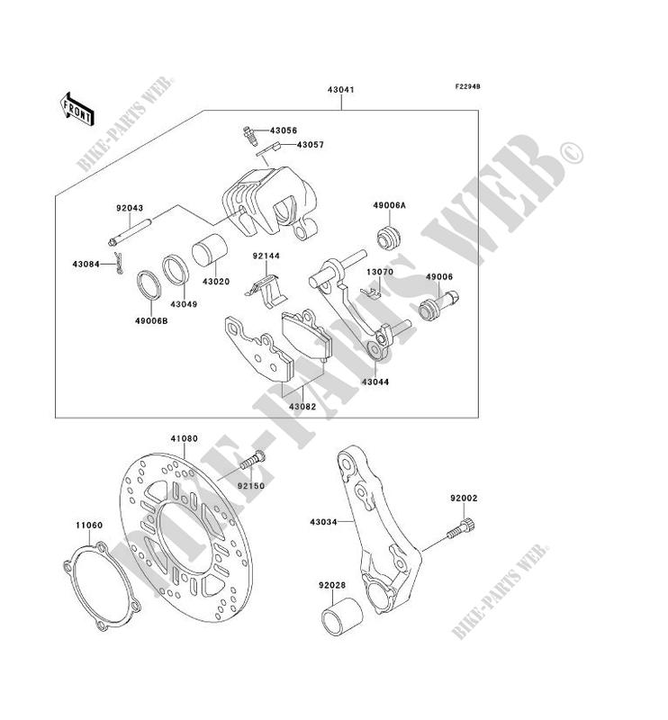 REAR BRAKE(ZR550B 024011 ) for Kawasaki ZEPHYR 1991