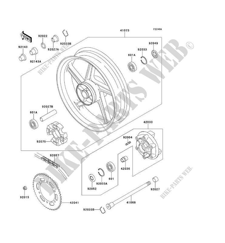 Diagrama Kawasaki Zr550b