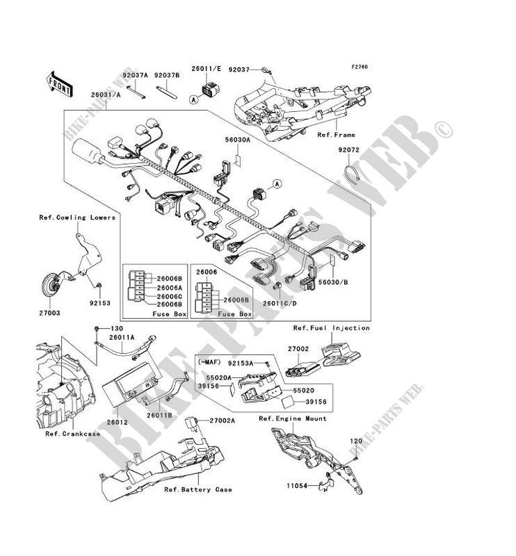 CHASSIS ELECTRICAL EQUIPMENT for Kawasaki Z750 ABS 2007 # KAWASAKI -  Genuine Spare Parts Catalog OnlineKawasaki GENUINE PARTS