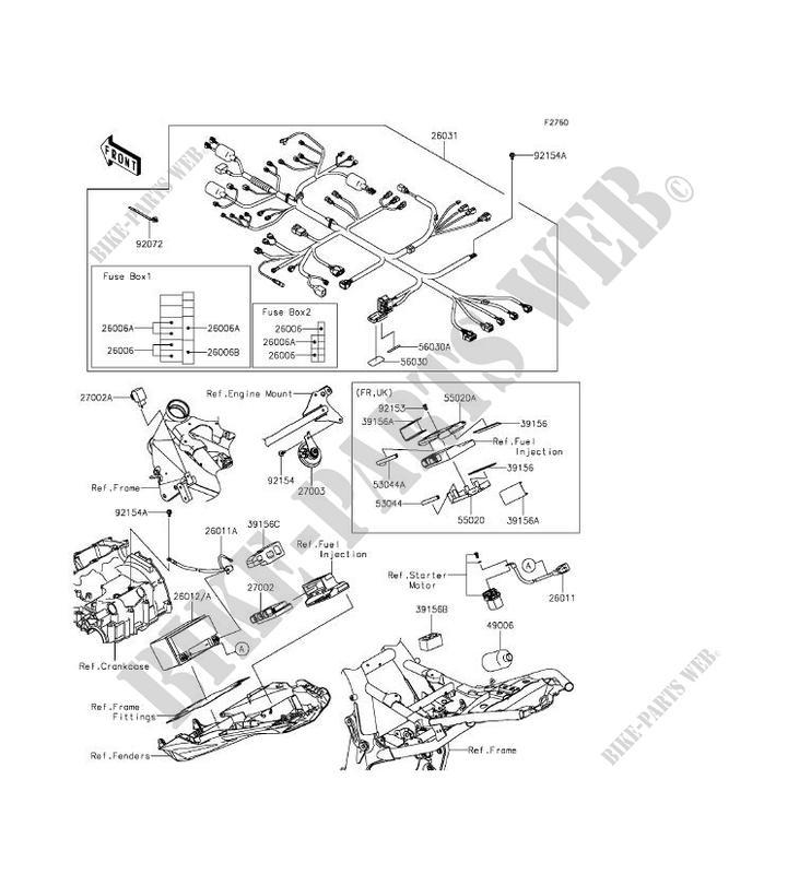 kawasaki motos 800 2014 z800 zr800aef zr800aef chassis electrical equipment