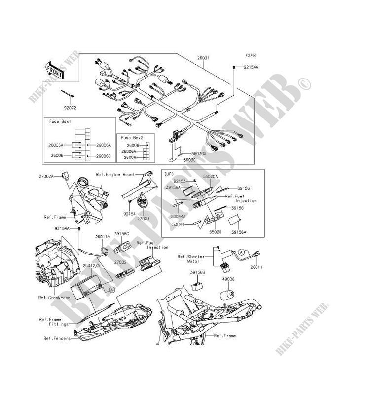Chassis Electrical Equipment Zr800cff Z800 2015 800 Motos Kawasaki