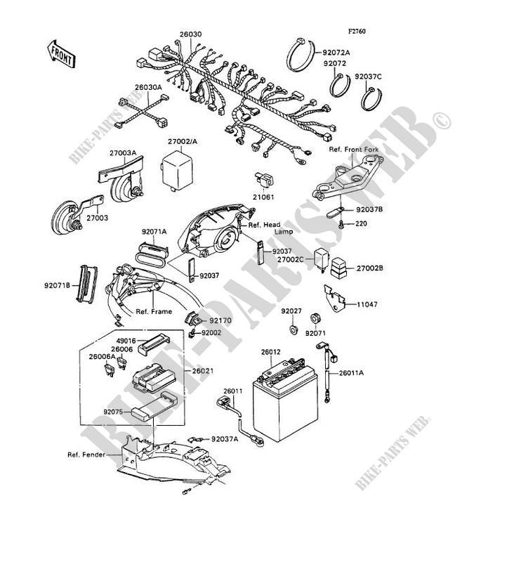 Electric Equipment Zx1100 C2 Zzr1100 1991 1100 Motos Kawasaki