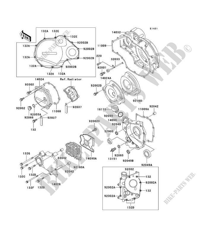 Engine Covers Zx1100 D4 Zzr1100 1996 1100 Motos Kawasaki Motorcycle
