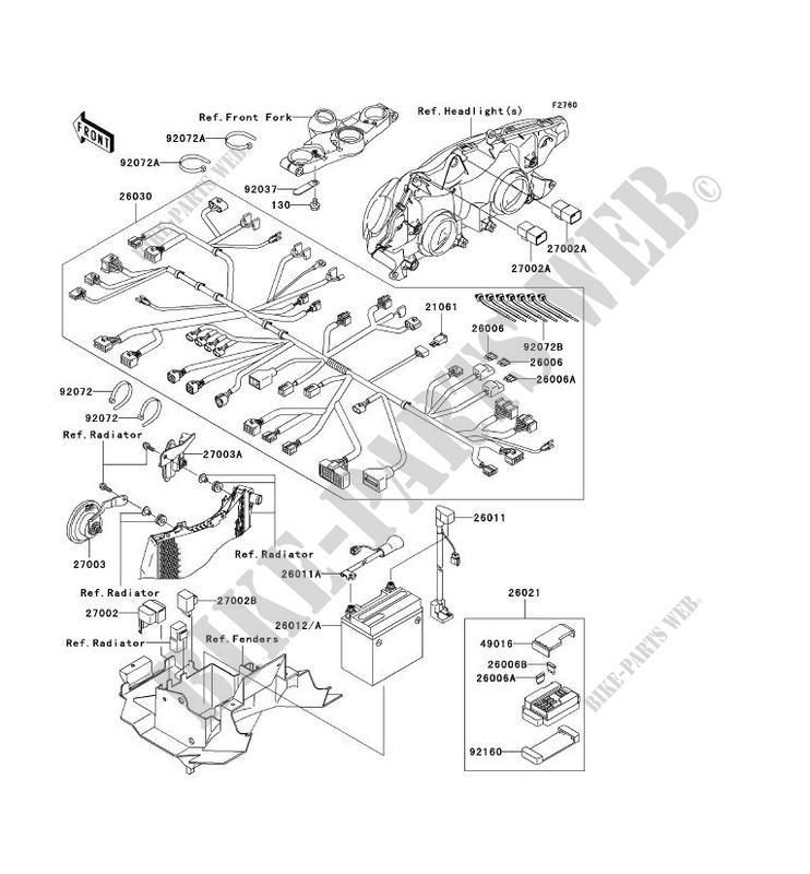 chassis electrical equipment zx1200 c1 zzr1200 2002 1200 motos rh bike parts kawa com ZX- 14R 2002 ZX1200