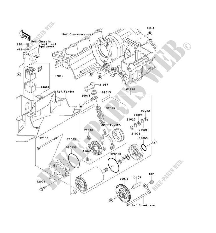 STARTER MOTOR for Kawasaki ZZR1200 2002 # on