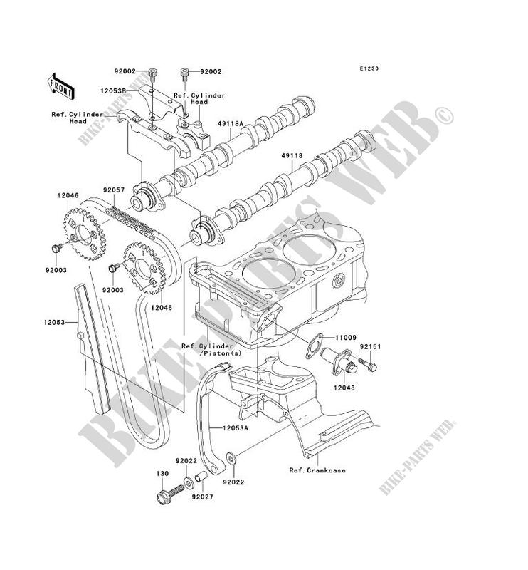 Camshaft Tensioner Zx1200 C2 Zzr1200 2003 1200 Motos Kawasaki