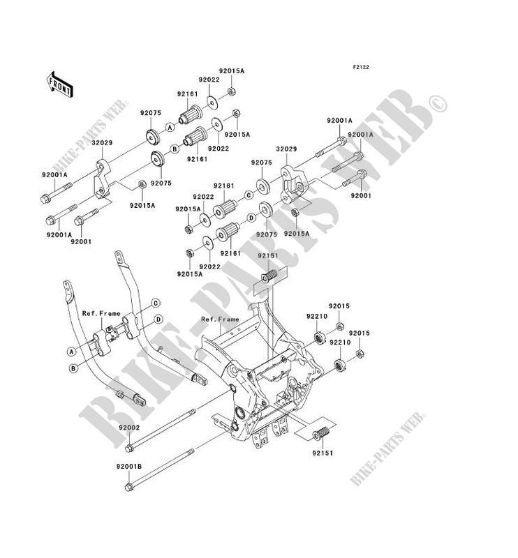 ENGINE MOUNT for Kawasaki ZZR1200 2003 # KAWASAKI - Genuine Spare Parts  Catalog OnlineKawasaki
