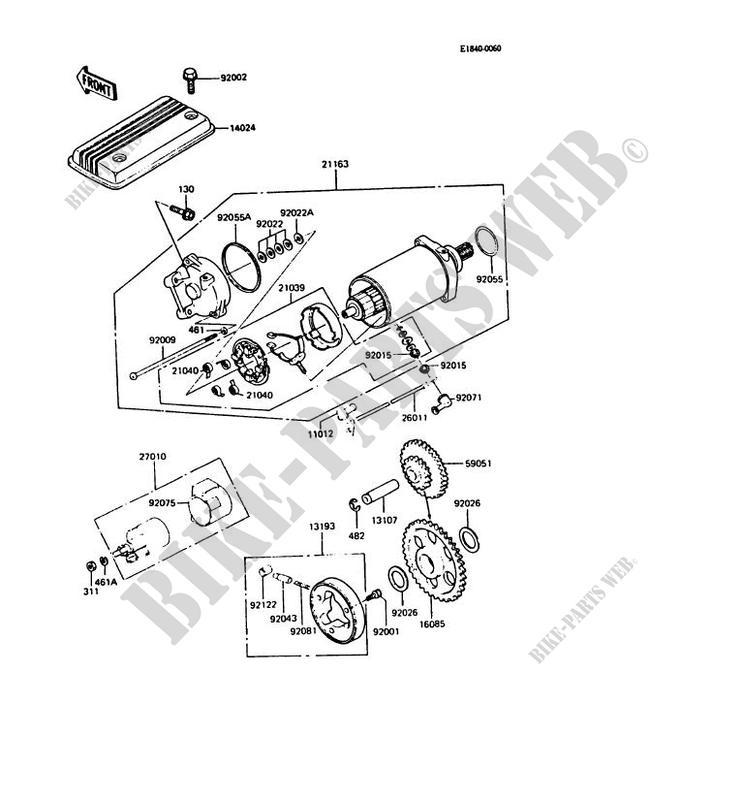 Starter Motor Gpz550 1984 550 Zx550a1: Kawasaki 550 Engine Diagram At Submiturlfor.com