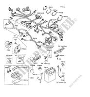 ELECTRIC EQUIPMENT(ZX600C-011127- ZX600 C2 600 kawasaki-motorcycle 1989 GPX600R H_07