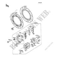 FRONT BRAKE(ZX600C-000001-003201) ZX600 C2 600 kawasaki-motorcycle 1989 GPX600R F_06