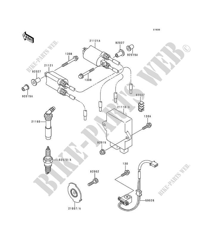 BOLT-FLANGED Kawasaki Zzr Ignition System Wiring Diagram on