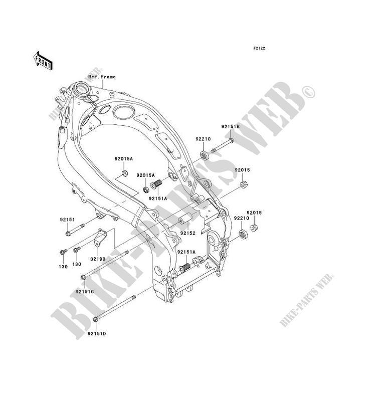 engine mount for kawasaki zzr600 2007  kawasaki engine mounting diagrams #6