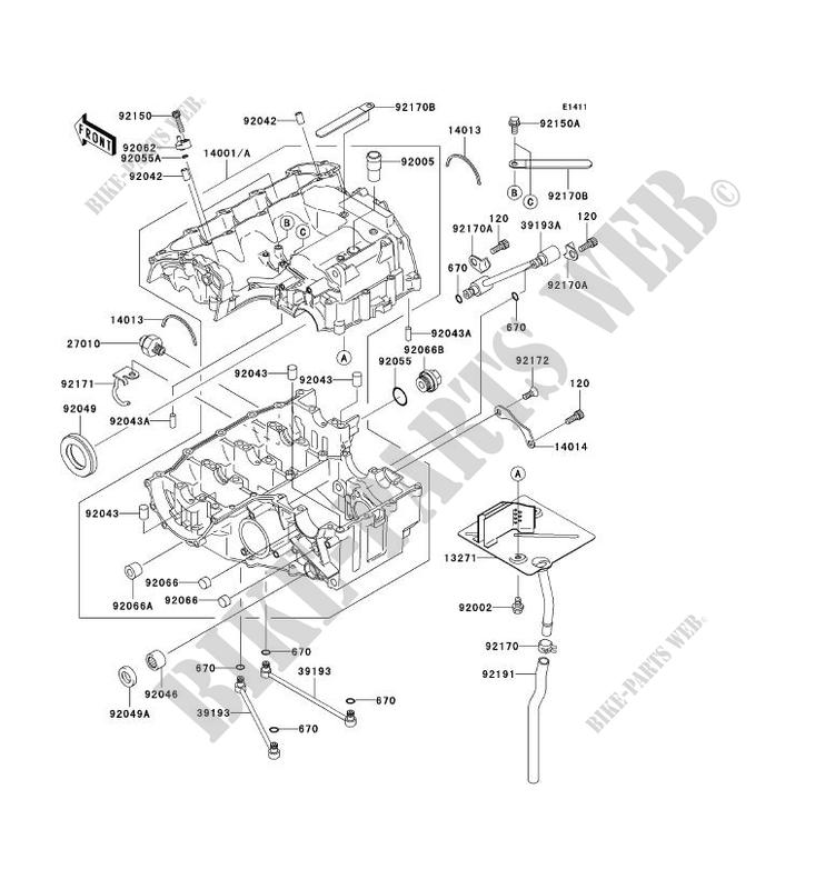 [ANLQ_8698]  CRANKCASE(S) for Kawasaki NINJA ZX-6R 2003 # KAWASAKI - Genuine Spare Parts  Catalog Online | Zx6r Engine Diagram |  | Kawasaki GENUINE PARTS