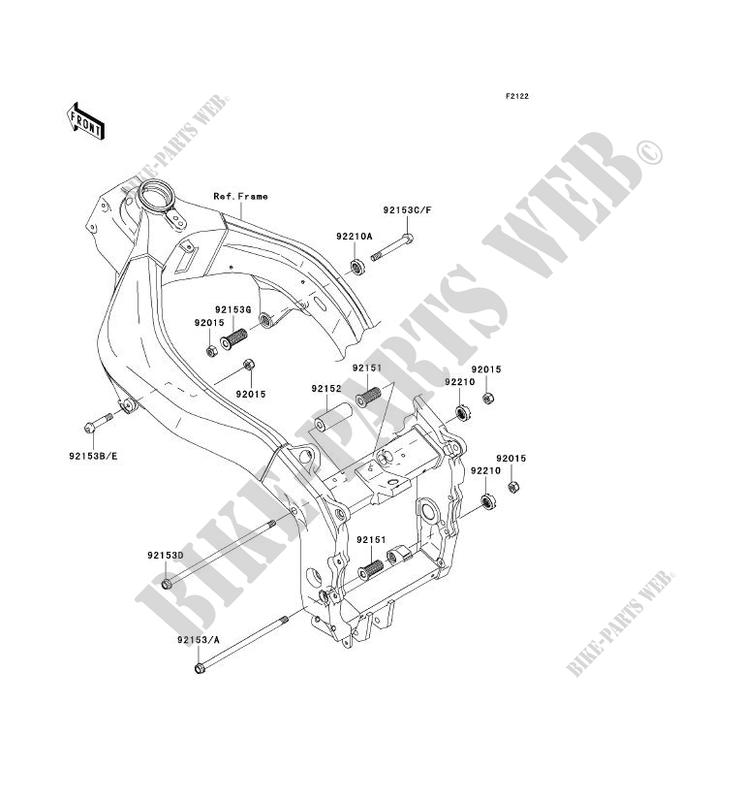 engine mount for kawasaki ninja zx 6r 2003 kawasaki genuine 18 HP Kawasaki Engine Diagram