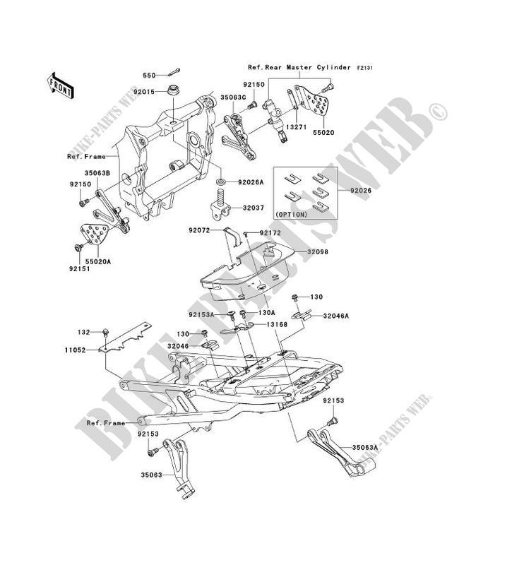 FRAME PARTS COUVERTURE ZX636 B1H NINJA ZX 6R 2003 636 MOTOS Kawasaki