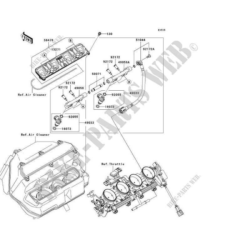 Color : 1 Set Front for Kawasaki ZX6R Ninja ZX636 ZX 636 2003 2004 2005 2006 ZX6RR 600 2003-2006 ZX10R 2004-2007 Motorrad vorn hinten Bremsbel/äge EG-MTSC
