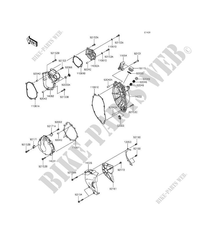 [SCHEMATICS_4JK]  Kawasaki ZX6R ZX-6R Engine Cover Gasket 11061-0252 archives.midweek.com | Zx6r Engine Diagram |  | Midweek.com