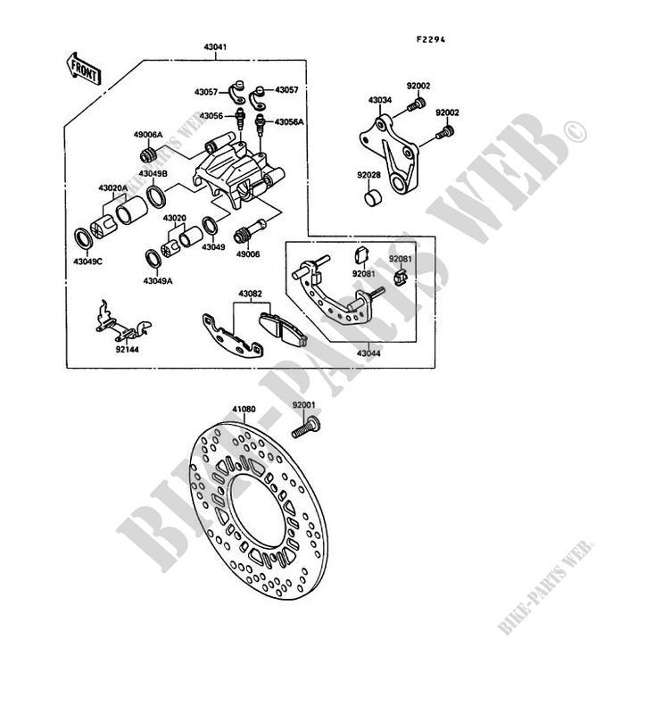 34 Brake Caliper Parts Diagram