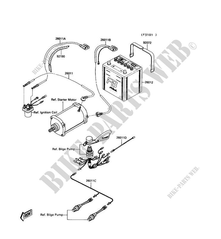 Kawasaki Jet Ski 650 1990 Mate Jb650a2 Electric Equipment: Kawasaki Jet Mate Wiring Diagram At Hrqsolutions.co