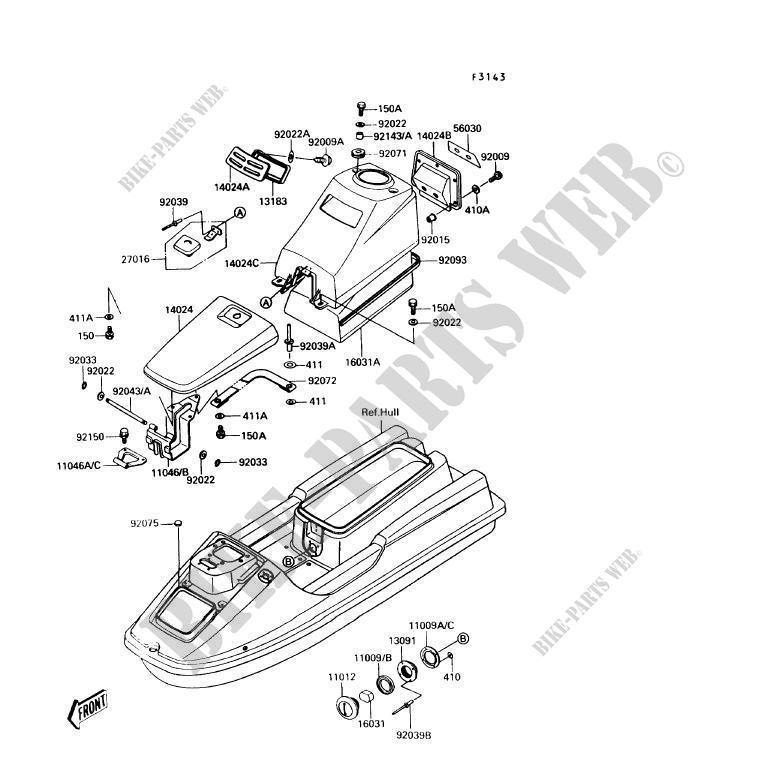Kawasaki Jet Ski Parts Diagram