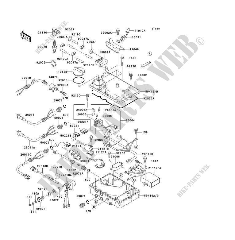kawasaki 900 zxi wiring diagram, ignition system jh1100 a3 jet ski 1100  zxi 1998 1100 jet ski     on