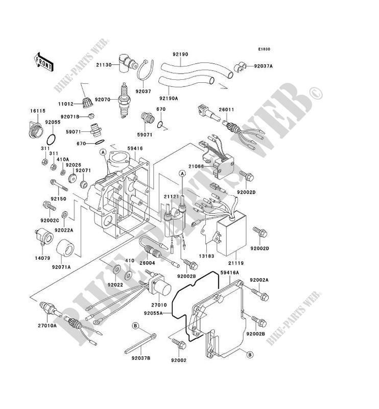 ignition system for kawasaki jet ski 750 sx 1992 kawasaki  kawasaki waverunner engine diagram
