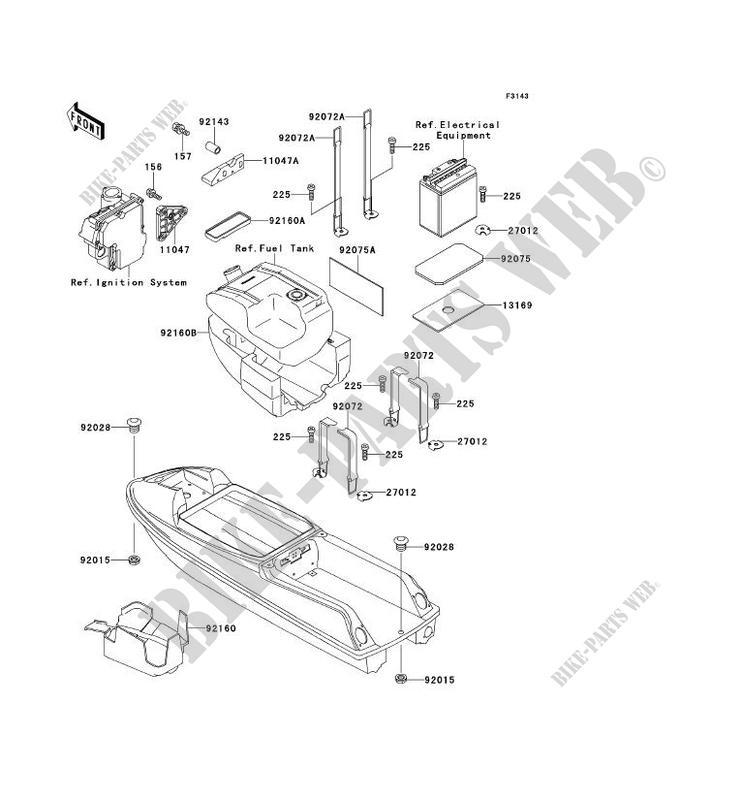 hull parts for kawasaki jet ski 750 sxi 1996 # kawasaki - genuine spare  parts catalog online  kawasaki genuine spare parts catalogue