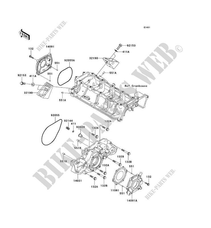 ENGINE COVERS JT1500B8F JET SKI ULTRA 250X 2008 1500 JET