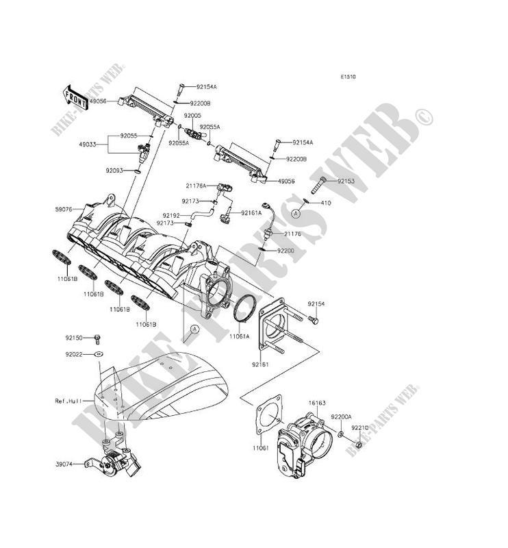 Carburetor Jt1500lff Jet Ski Ultra 310x 2015 1500 Jet Ski Kawasaki