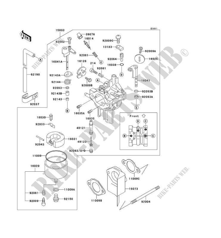 xc 600 carburetor diagram