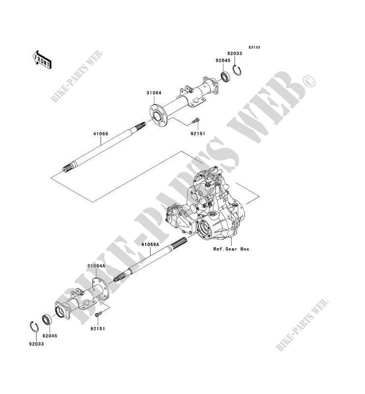 REAR AXLE for Kawasaki MULE 610 4X4 2007 #