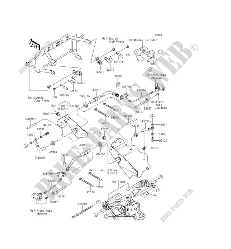 front brake pipe kaf400eef mule 610 4x4 xc 2014 400 ssv kawasaki 1996 Kawasaki Bayou 400 4x4 kawasaki ssv 400 2014 mule 610 4x4 xc kaf400eef kaf400eef front brake pipe