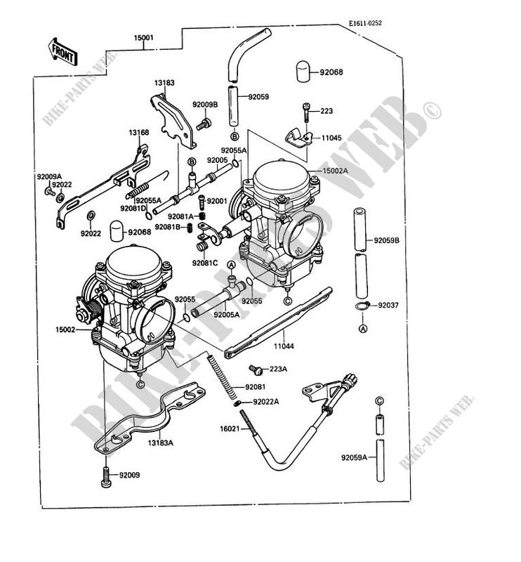 carburetor kawasaki mule 1000 no year 450 kaf450