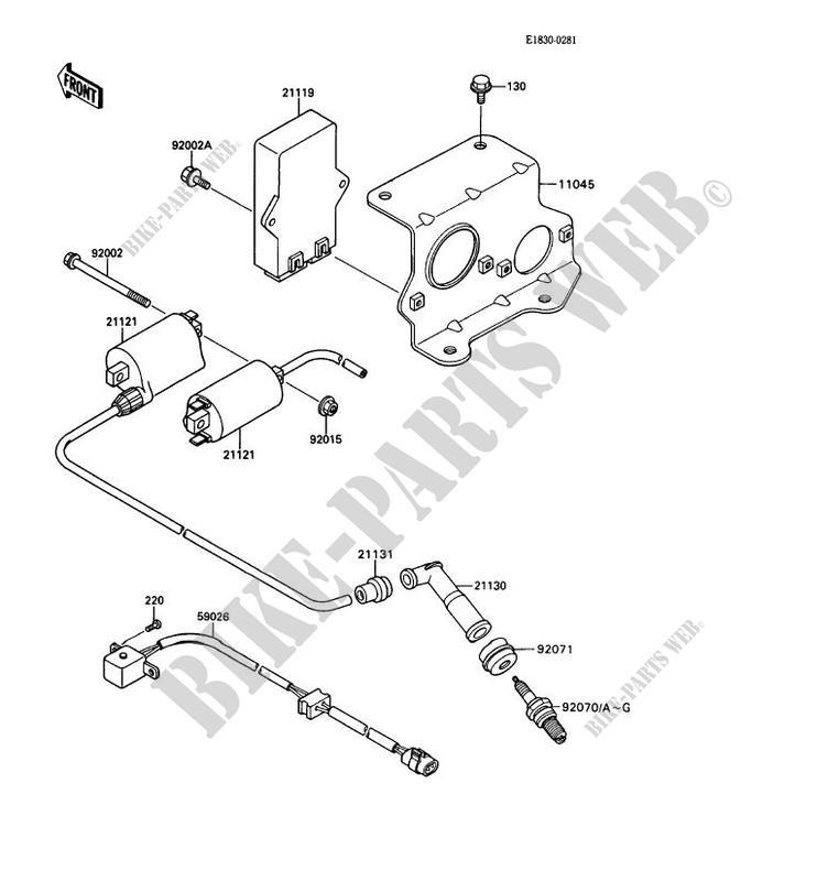 ignition system kaf450 b1 mule 1000 no year 450 ssv