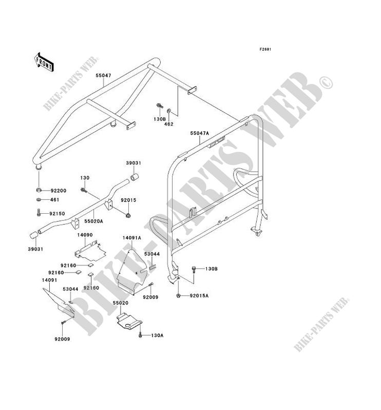 Protection Chassis Cab Kaf620 A6 Mule 2510 No Year 620 Ssv Kawasaki. Kawasaki Ssv 620 Noyear Mule 2510 Kaf620a6 Protection Chassis Cab. Kawasaki. Kawasaki Mule 2510 Rear Axle Diagram At Scoala.co