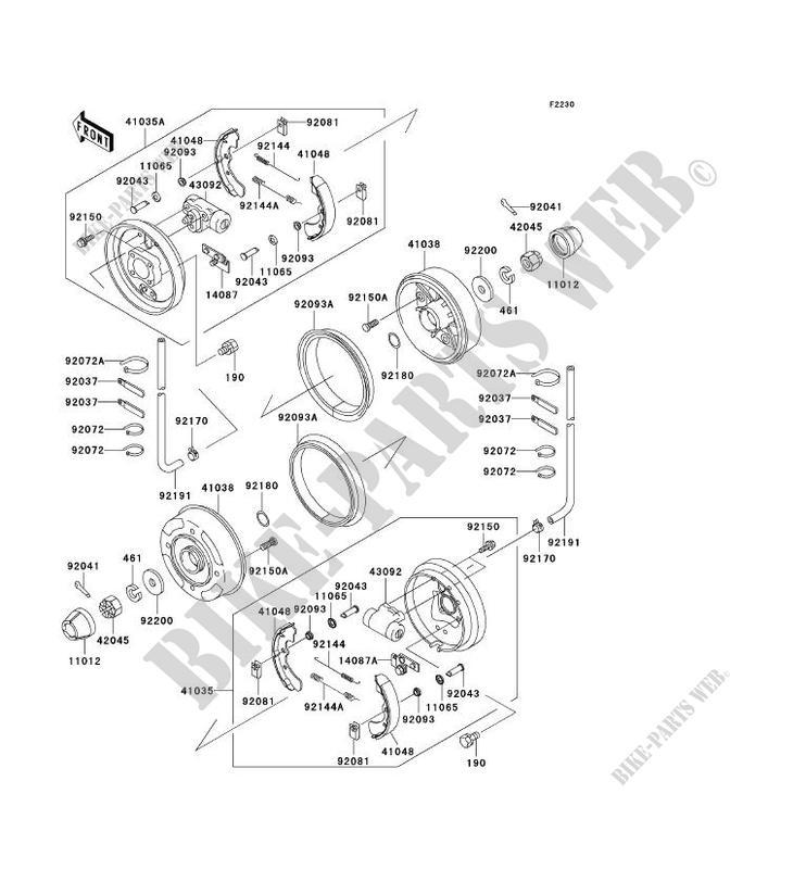 front hub brake kaf620 e1 mule 3010 4x4 no year 620 ssv kawasaki Kubota RTV1140 Parts Diagram kawasaki ssv 620 no year mule 3010 4x4 kaf620 e1 kaf620 e1 front hub