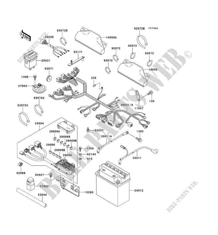 kawasaki ssv 620 no_year mule 3010 4x4 kaf620-e4 kaf620-e4 chassis  electrical equipment