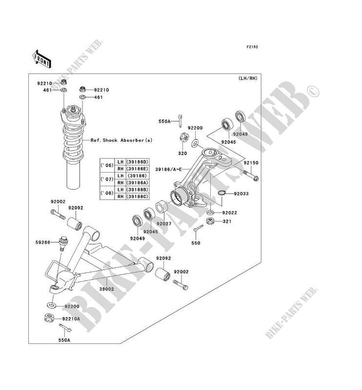 Front Suspension Shock Absorber Kaf620e6f Mule 3010 4x4 2006 620 Ssv. Kawasaki Ssv 620 2006 Mule 3010 4x4 Kaf620e6f Front Suspension Shock Absorber. Kawasaki. Kawasaki Mule 3010 Front Control Arm Parts Diagram At Scoala.co