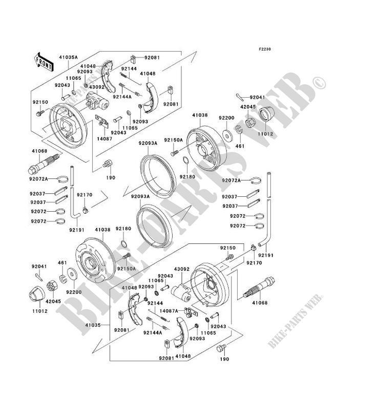 Front Hub Brake For Kawasaki Mule 3000 Noyear: Kawasaki Mule 3000 Engine Parts Diagram At Sergidarder.com