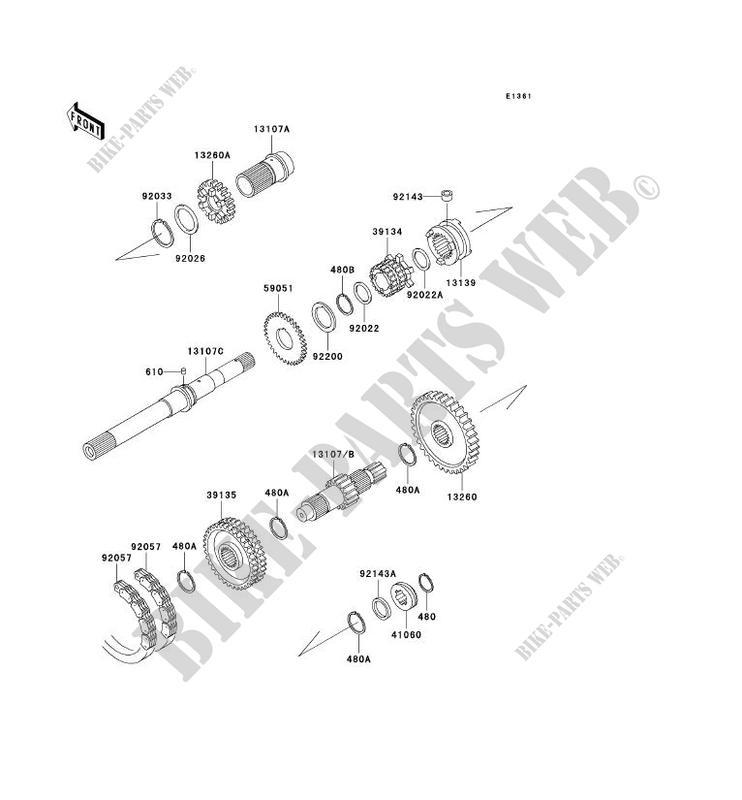 Kawasaki spacer part # 92026-1375