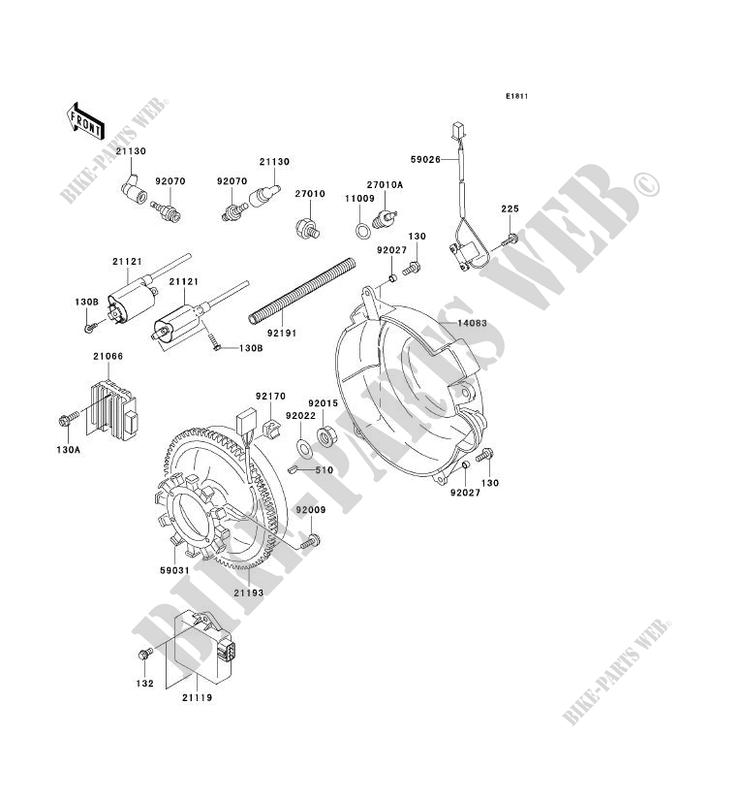 Generator Coil Kaf620h8f Mule 3010 4x4 2008 620 Ssv Kawasaki. Starter Motor Kawasaki Ssv 620 2008 Mule 3010 4x4 Kaf620h8f Generator Coil. Kawasaki. Kawasaki Mule 3010 Starter Part Diagram At Scoala.co