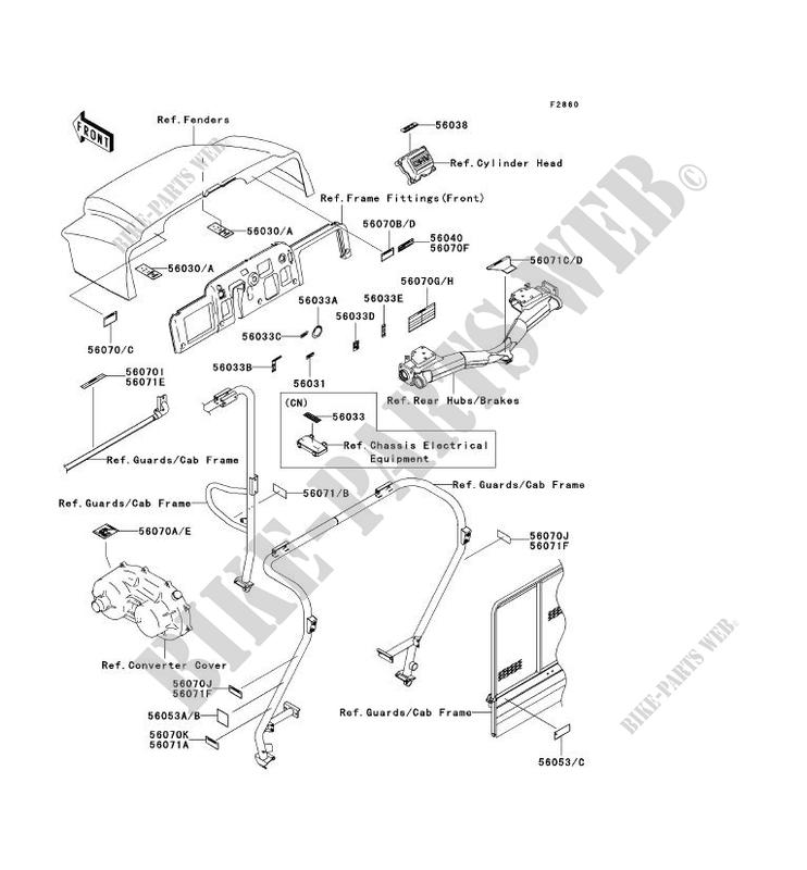 28 kawasaki mule 3010 parts diagram