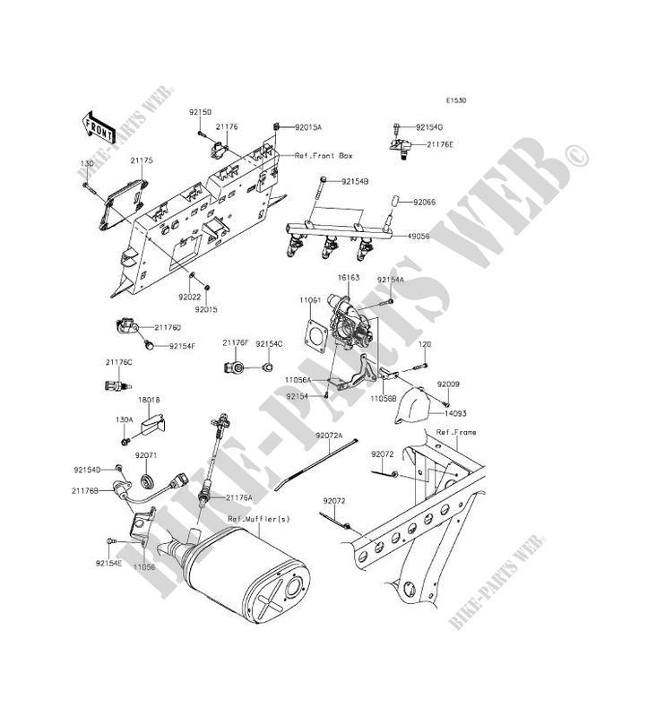 fuel injection kaf820aff mule pro fxt 2015 820 ssv