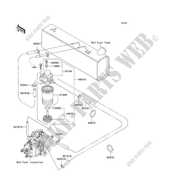 Fuel Pump Kaf950 A1 Mule 2510 Diesel 2000 950 Ssv Kawasaki