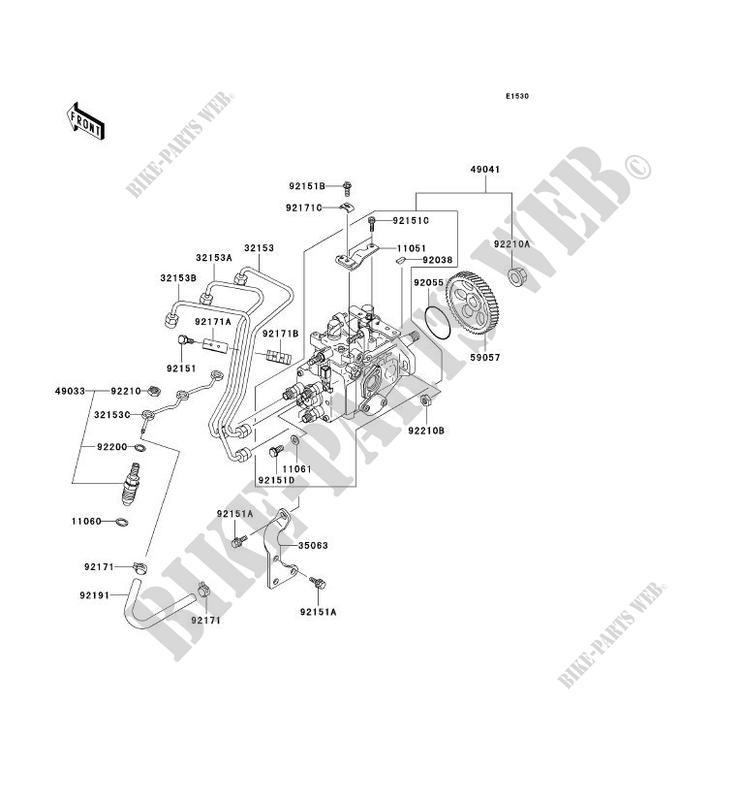 fuel injection kaf950 a3 mule 2510 diesel no year 950 ssv