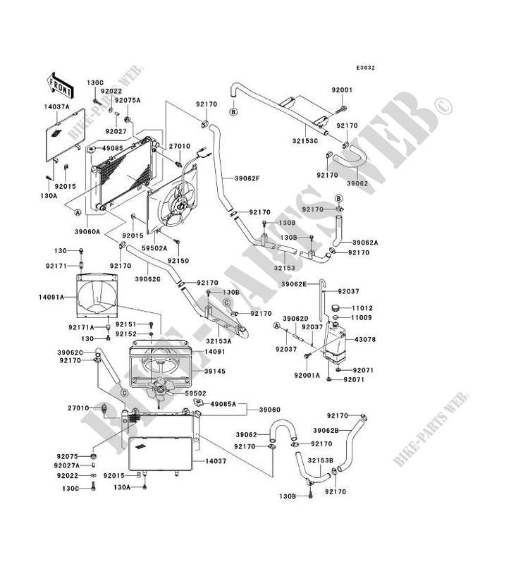 Radiator Kaf950 B1 Mule 3010 Diesel No Year 950 Ssv Kawasaki. Kawasaki Ssv 950 Noyear Mule 3010 Diesel Kaf950b1 Radiator. Kawasaki. Kawasaki Mule 3010 Parts Diagram Water Pump At Scoala.co