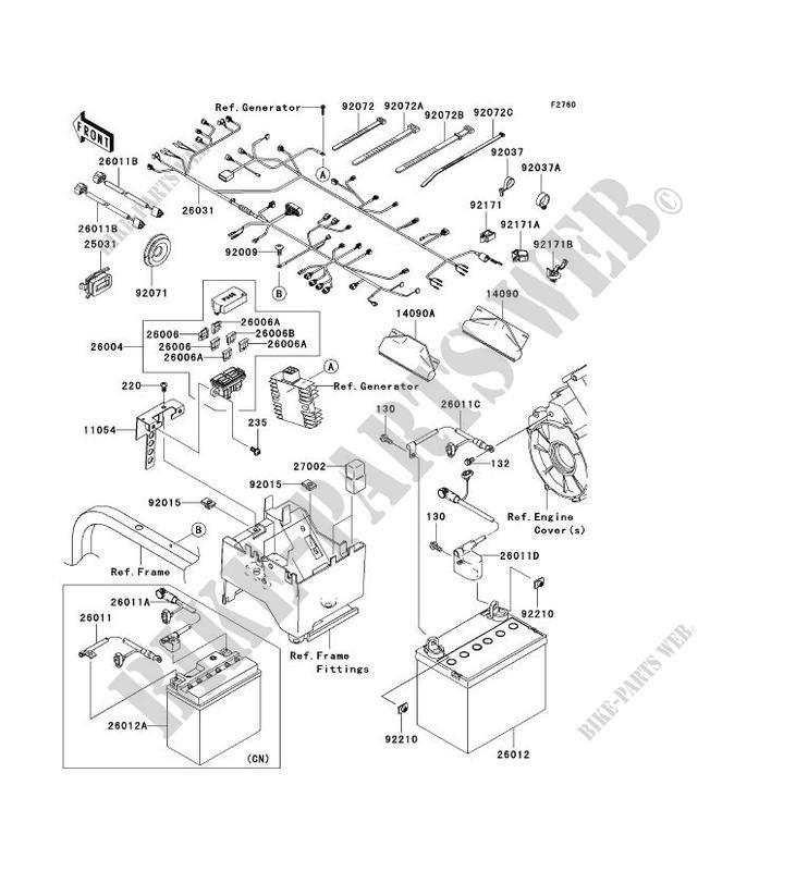kawasaki ssv 750 2008 teryx 750 4x4 krf750a8f krf750a8f chassis electrical  equipment