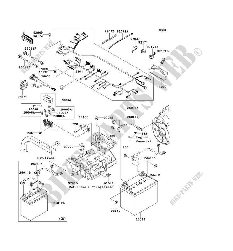 Chassis Electrical Equipment Krf750pcs Teryx 750 Fi 4x4 Le 2012 750