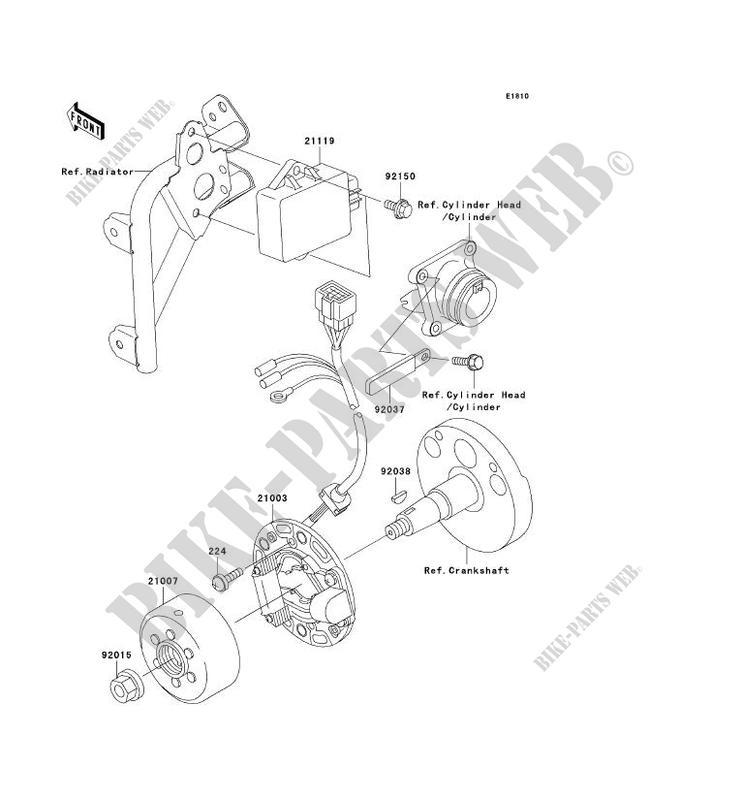 generator kx100 d1 kx100 2001 100 tout terrain kawasaki motorcycle on  john deere electrical diagrams,